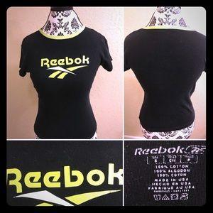 New listing! Reebok black & green Tee Small